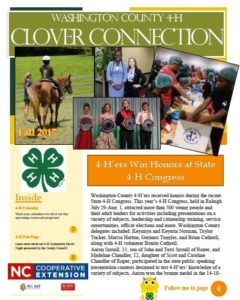 Cover photo for 4-H Clover Connection Newsletter - Fall 2017