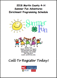 Cover photo for 2018 Martin County 4-H Summer Fun Enrichment Programs
