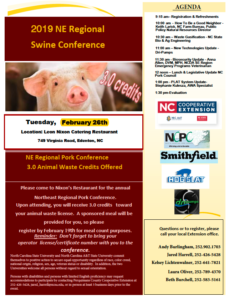 Flyer for 2019 Swine Conference