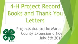 4-H Project Record Books logo image
