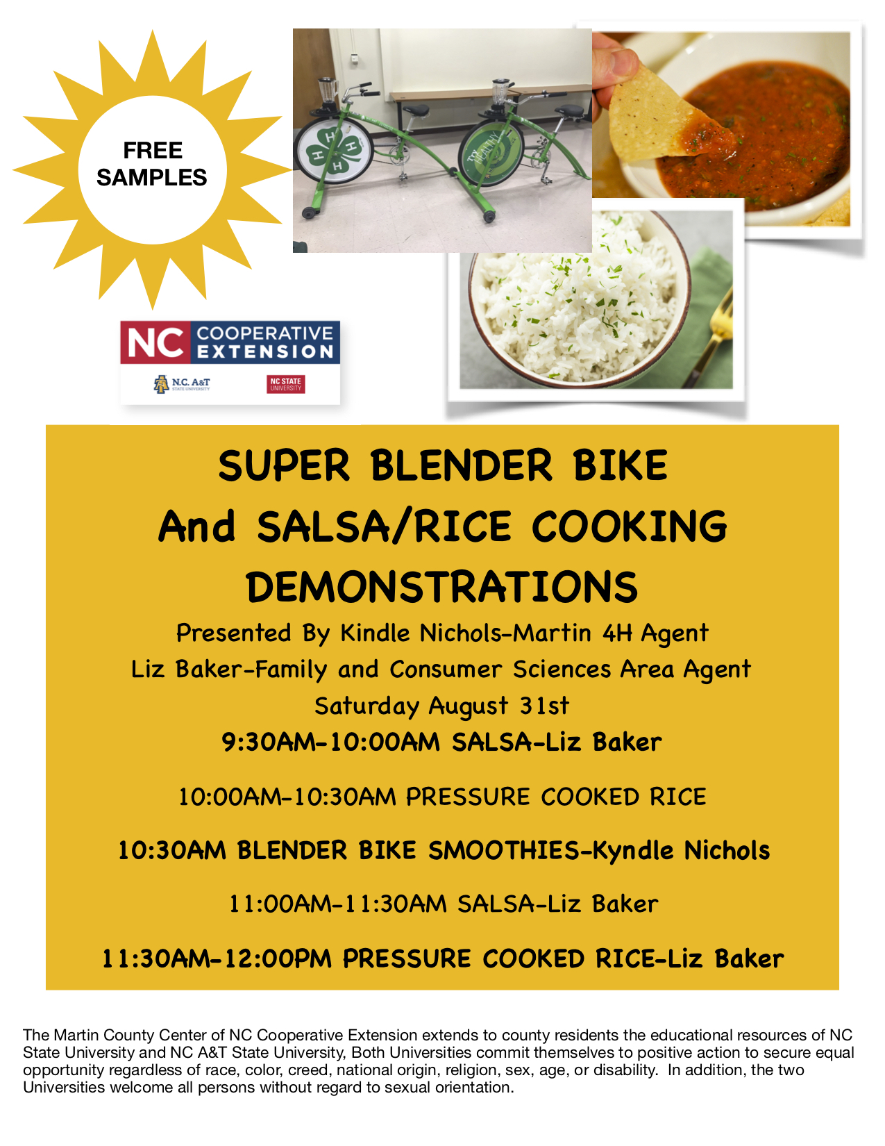 Image of Food Demonstration Flier