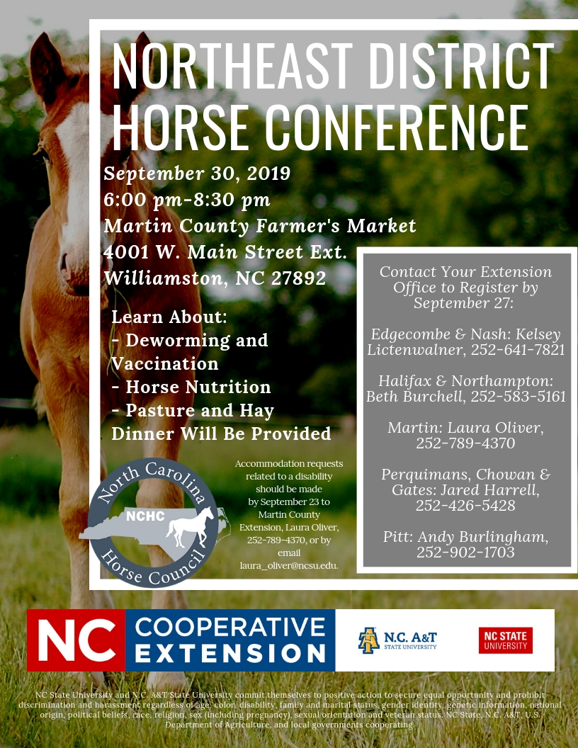 Flyer for Horse Conference