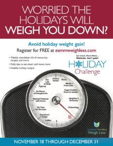 Cover photo for Eat Smart, Move More, Maintain, Don't Gain!  Holiday Challenge