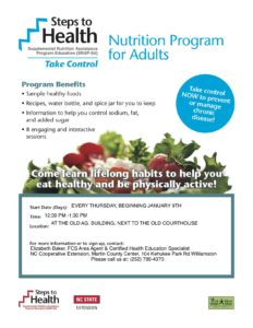 Steps to Health flyer image